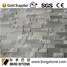 White Wood Marble Cultured Stone for Wall