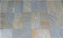 Yellow Rust Slate Tiles, China Yellow Slate