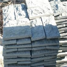 China Granite Mushroom Cladding,G654 Granite Mushroom Stone,Dark Grey Granite Mushroom Wall Cladding