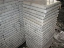 China White Marble Wall Coping,Guangxi White Marble Pillar Caps,Chinese Carrara White Marble Pier Caps,White Marble Column Tops