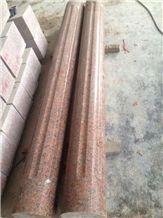 G562 Granite Columns, China Capao Bonito Granite/Crown Red Granite/Maple Leaf Red Granite Architectural Columns