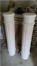 Guangxi White Marble Column,China Carrara White Marble Roman Columns,China White Marble Ionic Columns Doric Columns Corinthian Columns