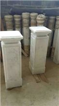 Guangxi White Marble Gate Columns,China Carrara White Marble Gate Pillars,China White Marble Gate Post