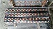Marble Mosaic Border,Natural Stone Skirtings,Decorative Moldings,Mosaic Mouldings