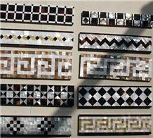 Natural Sea Shell Mosaic Boarder,Sea Shell Board Wall Decos,Sea Shell Moldings for Interior Wall Decoration,Sea Shell Mouldings for Wall Trim Decor