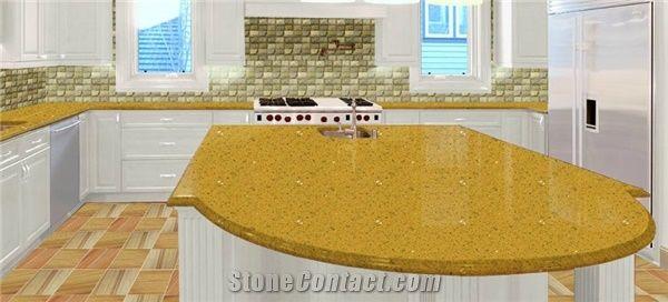 Giallo Quartz Countertops Yellow Quartz Stone Kitchen
