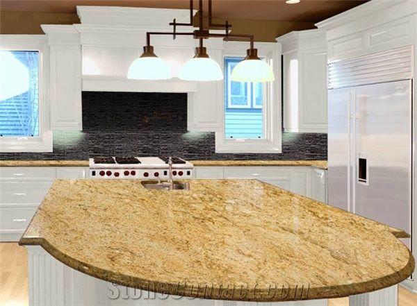 Exceptionnel Kashmir Gold Granite Countertops, Yellow Granite Kitchen Bar Tops