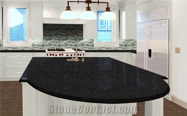 Negro Quartz Countertops Black Quartz Stone Kitchen Countertops