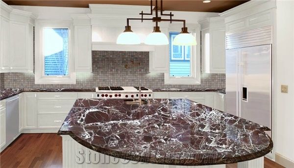 Rosso Levanto Marble Countertops Red