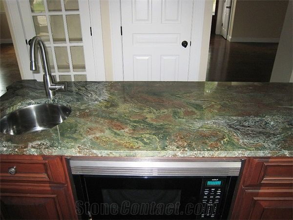 New Verde Chain Granite Countertop From United States