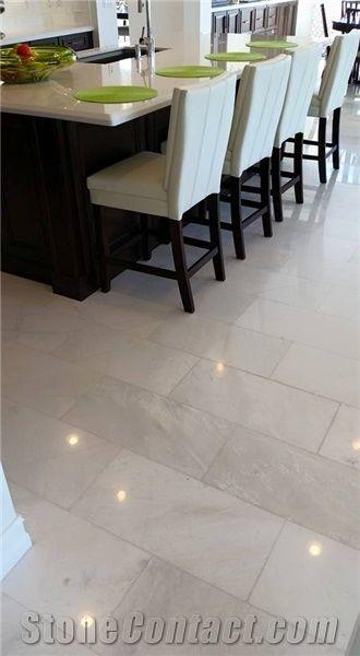 Diamond White Polished 12 X24 Marble Flooring From United