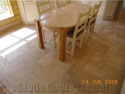 Brushed Classic Travertine Kitchen Floor Pattern from United ...