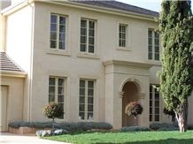 Gambier Limestone Plainface Veneer, Plainface Ashlar, Beige Limestone for Building