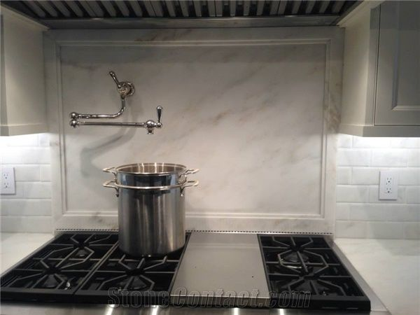 Imperial Danby Marble Countertops With Full Height Slab