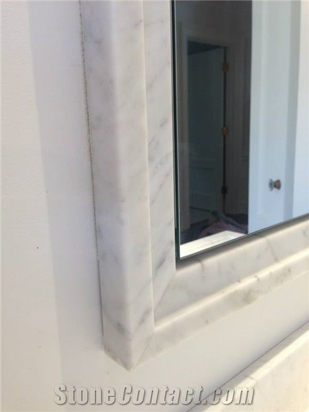 3 Home Decor Trends For Spring Brittany Stager: White Carrara Marble Mirror Surround Frame From United