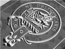 Highland Slate Large Clan Crest Plaque