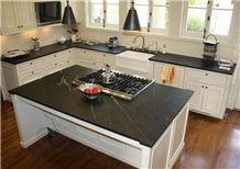 Black Minas Soapstone, Black and White Sleek with Soapstone