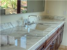 Calacatta Gold Kitchen Countertop, Thick and Modern