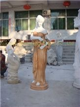 Multicolor Marble Sculpture Polished