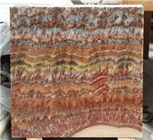 Rojo Vulkano Onyx Polished Slabs & Tiles, China Red Onyx