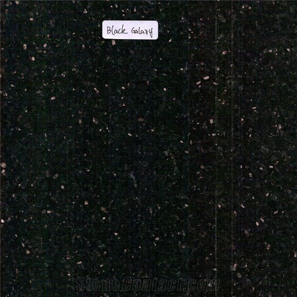 Black Galaxy Granite Granite Tiles Slabs Black Polished Granite