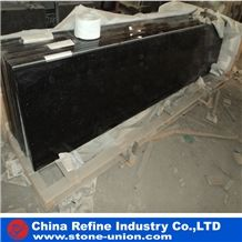Absolute Black Granite Tiles & Slabs,Mongolia Wall Covering,Black Granite, Black Cheap Granite Slabs Hot Sale,Chinese Nero Assoluto Black Granite Slabs
