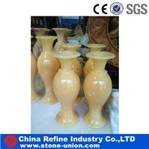 Beige Onyx Vases, the Most Popular Vase for Home Decoration,Yellow Onyx Flower Vase,Interior Design