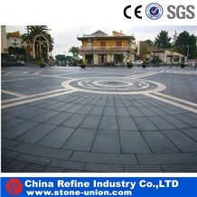 Black Basalt Floor Tile Hainan Black Basalt Tile & Slab , Bull Nose Stone Paver, Stone Basalt Garden Palisade, Polished Honed Flamed Cheap Basalt Tiles/ Walling/ Flooring