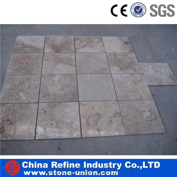 Designed Medium White Travertine Colorful Tiles Travertine Tiles