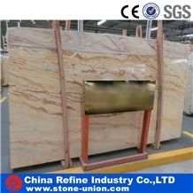 Lemon Gold Imported Marble Slabs & Tiles, Fantacy Golden Marble,Caspian Yellow,Golden Grassland,Agate Yellow,Iran Yellow Marble,Agate Gold Marble