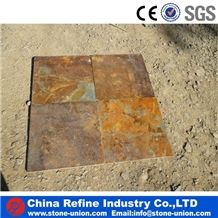 Natural Golden Flooring Slate Slabs & Tiles, China Yellow Slate