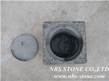 G654 Granite Natural Stone Oil Lanterns,China Fujian Black Natural Stone Oil Lanterns
