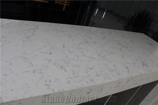 Bianco Carrara Artificial Marble Quartz Countertop White