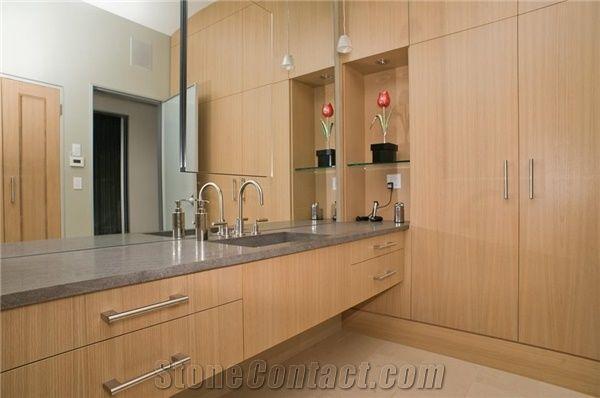 Basaltina Tipo Clico Master Bathroom Vanity Top Grey Basalt Bath Countertops