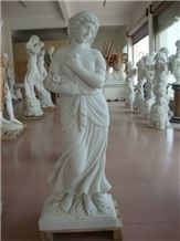 Excellent Marble Human Sculptures, Pure White Marble Human Sculptures