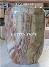 Funerary Urns, Pakistan Green Onyx Urns