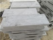 China Blue Limestone Tiles & Slabs, Blue Limestone Machine Cut + Grinding 200#, China Limestone Floor Tiles