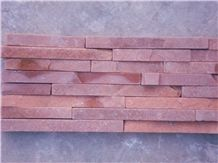 Red Sandstone Mosaic Tiles, Split Face Mosaic Pattern, Red Stone Wall Chipped Mosaic Tiles