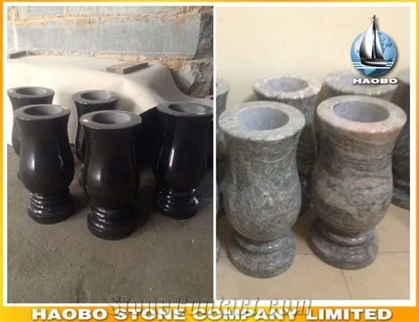Factory Direct Multicolor Cemetery Vases Wholesale Haobo Stone