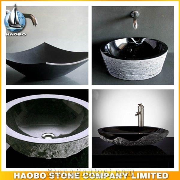 Natural Stone Above Counter Sink Granite Bathroom Bowl