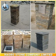 Slate Exterior and Interior Wholesale Cultured Stone Gate Post