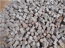 Manga Red Granite Cube Stone, Pavers