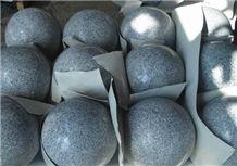 China Grey Granite Ball,Grey Parking Ball,Polished Granite Parking Ball,G603 Granite Ball,Garden and Pallisade,Car Parking Stone,Parking Stone,Parking Curbs,Parking Barriers,China Granite Ball,