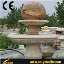 Fountain Ball, Fengshui Ball Fortune Ball, Red Granite Fountain,Garden Water Fountain,Red Marble Water Fountain, Polished Ball Fountain, Exterior Sculptured Fountain,Outdoor Sculptured Fountains