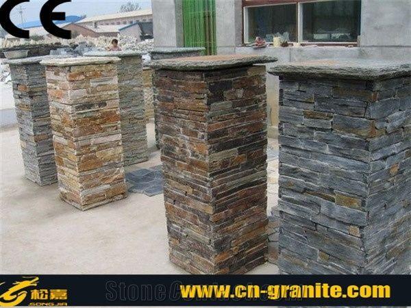 Natural Stone Columns Slate Stone Columns Cultured Stone