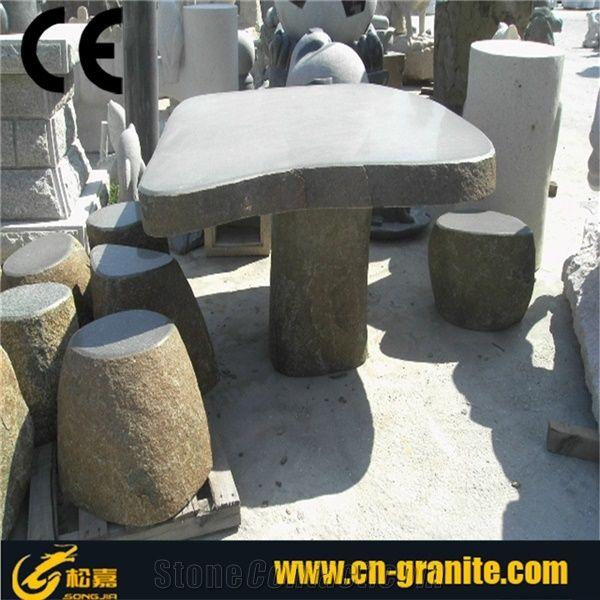 Outdoor Grey Granite TableGranite Table BasesGarden Stone Tables - Grey granite dining table