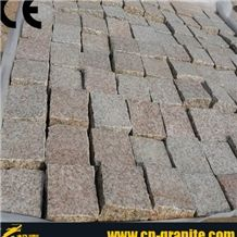 Red Granite Cube Stone,China Rustic Granite Cube Stone,Natural Surface Cube Stone,Cube Stone Paving Sets,Floor Covering,Courtyard Road Pavers,Exterior Pattern,Cobble Stone,Walkway Pavers