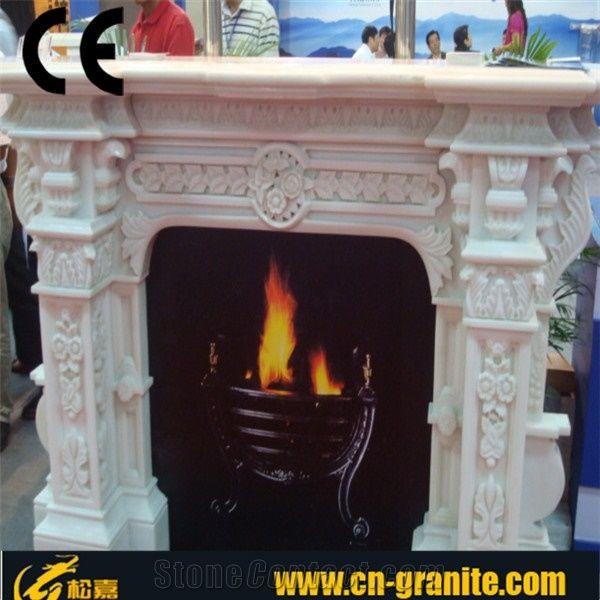White Marble Fireplace,China White Fireplace,Fireplace ...