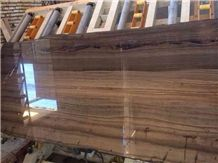 Wooden Brown Marble Tile & Slab Brown Marble Slab for Interior