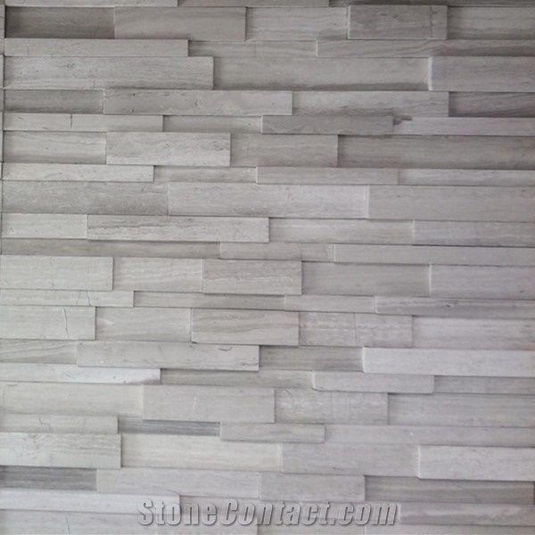White Wooden Marble Cultured Stone Ledge Stone Nublado